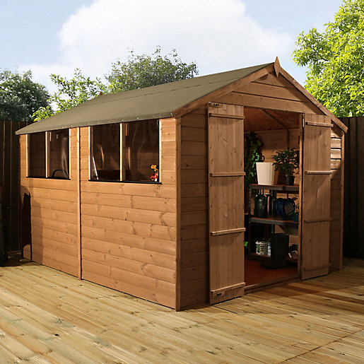 Mercia shiplap apex shed 10 x 8 ft for Name something you keep in a garden shed
