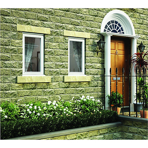 Wickes White Timber Casement Window - LH Side
