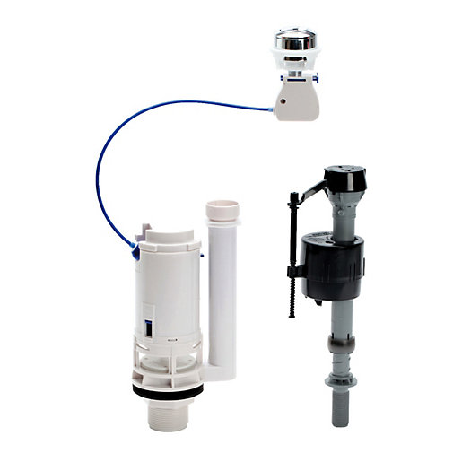 Fluidmaster Push Button Cistern Dual Flush Valve &