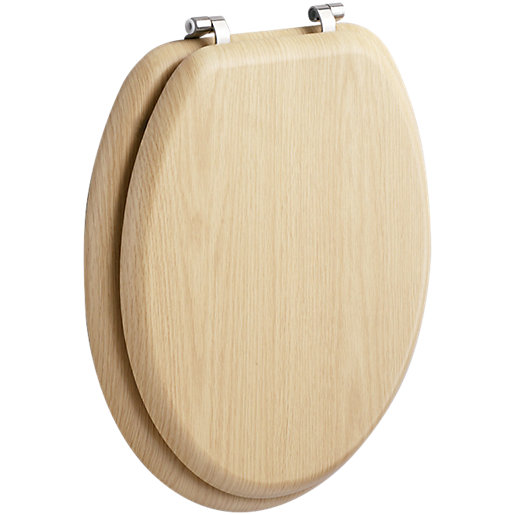 Wickes Soft Close Toilet Seat - Natural Pine