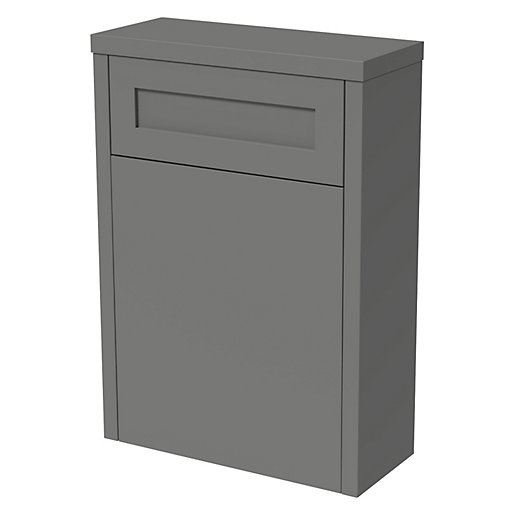 Wickes Hayman Dove Grey Traditional Freestanding Toilet Unit