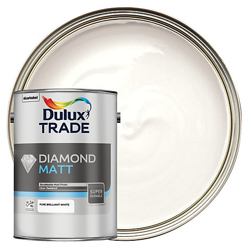 Dulux Trade Diamond Matt Emulsion Paint - Pure