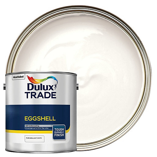 Dulux Trade Eggshell Emulsion Paint - Pure Brilliant