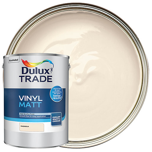 Dulux Trade Vinyl Matt Emulsion Paint - Magnolia