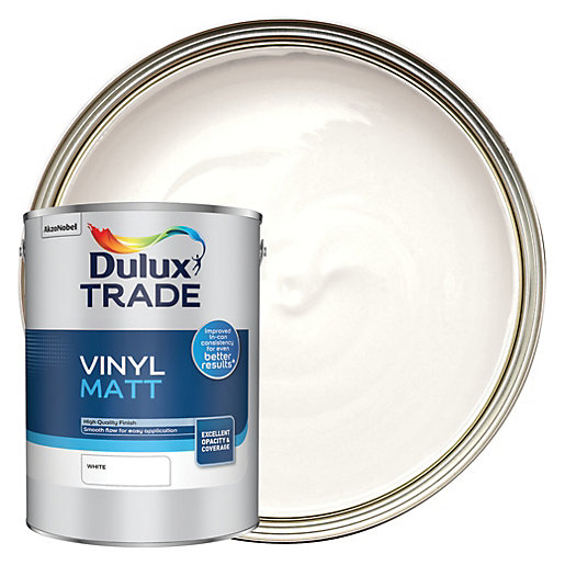 Dulux Trade Vinyl Matt Emulsion Paint - White