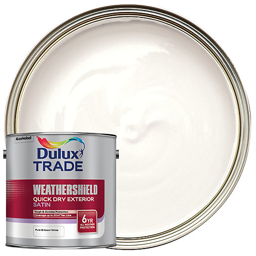 Dulux Trade Weathershield Quick Dry Exterior Satin Paint