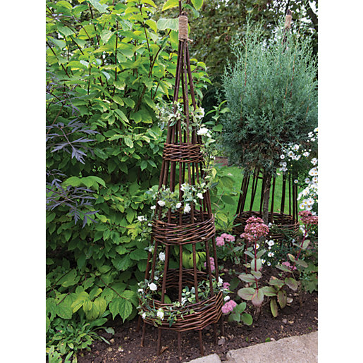Forest Garden Concentric Willow Obelisk 1.2m - Pack