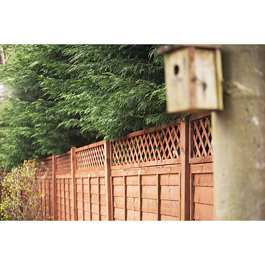 Forest Garden Contemporary Single Slatted Fence Panel 6 X 6ft Multi Packs Wickes Co Uk