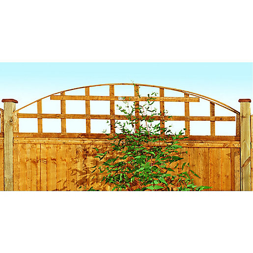 Wickes Arch Top Trellis Fence Panel Autumn Gold 460mm X