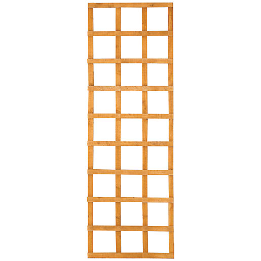 Wickes Top Trellis Square Lattice Fence Panel Autumn Gold 1 83m X 600mm