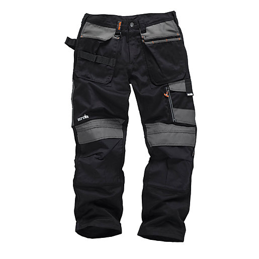 Scruffs 3D Trade Black Trousers - Long Leg