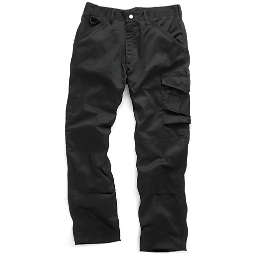 Scruffs Black Work Trousers - Reg Leg