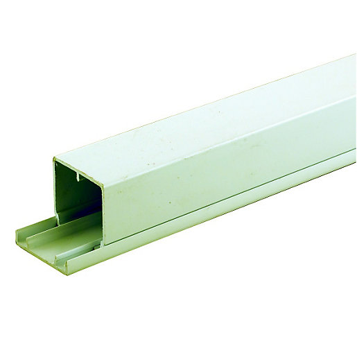 Wickes Maxi Trunking - White 50 x 50mm