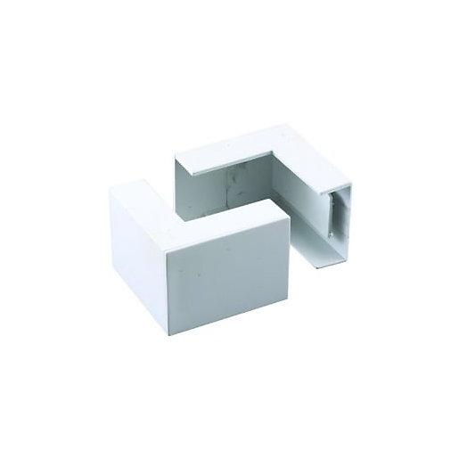 Wickes Mini Trunking Outside Angle - White 38