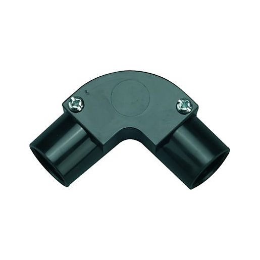 Wickes Trunking Inspection Elbow - Black 20mm