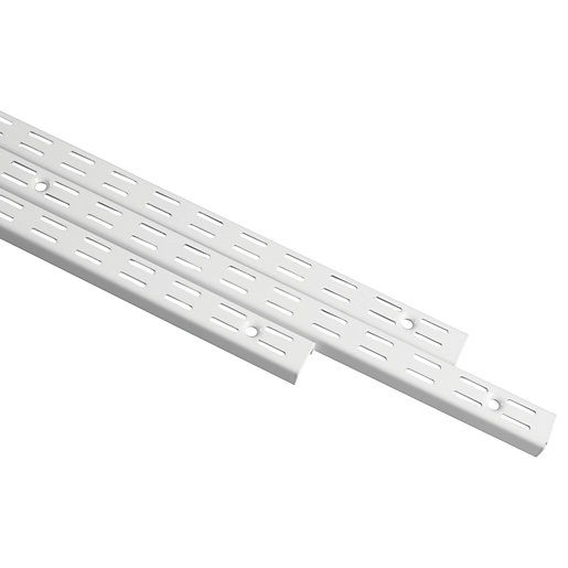 Wickes Twin Slot Upright White 425mm