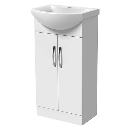 Wickes 450mm Compact Vanity Unit & Basin White