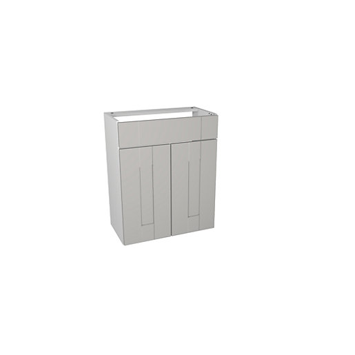 Wickes Vermont Grey Fitted Vanity Unit   600 Mm
