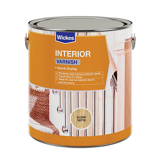 Wickes Quick Drying Interior Varnish - Clear Satin