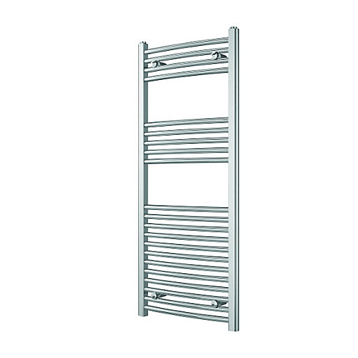 Wickes Curved Towel Radiator - Chrome 500 x