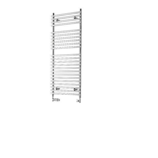 Wickes Liquid Round Vertical Designer Towel Radiator -