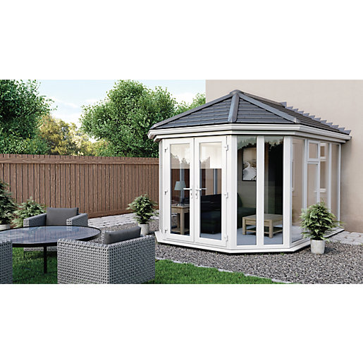 Euramax Victorian V7 Solid Roof Ful Glass Conservatory