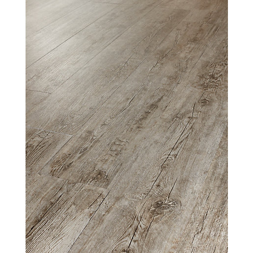 Westco caspian grey oak luxury vinyl flooring for Wood effect vinyl flooring bathroom