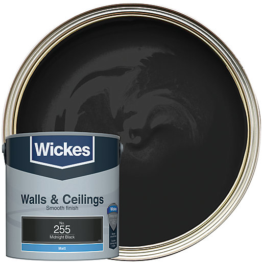 Wickes Midnight Black - No. 255 Vinyl Matt