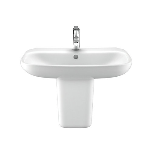 Wickes Bellante Ceramic Wall Hung Basin with Semi