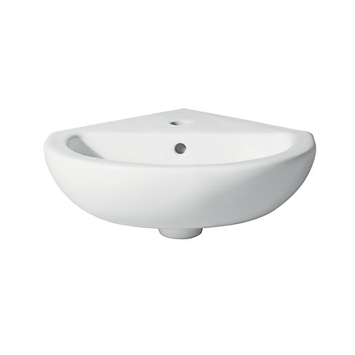 Wickes Corner Basin with Single Tap Hole -