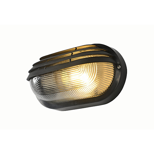 Coast Puck Black Oval Eyelid Bulkhead Light -