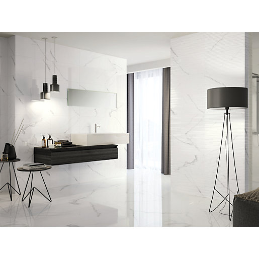 Boutique Palmas Gloss Structure Ceramic Wall Tile 600