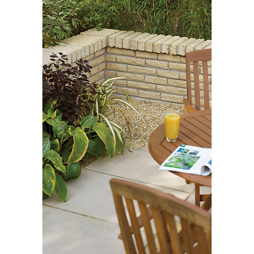 Marshalls Marshalite Textured Pitch Faced Walling - Buff