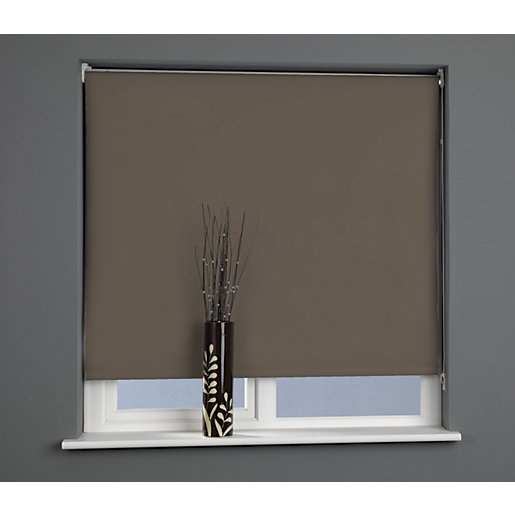 Universal Plain Blackout Roller Blind - Chocolate