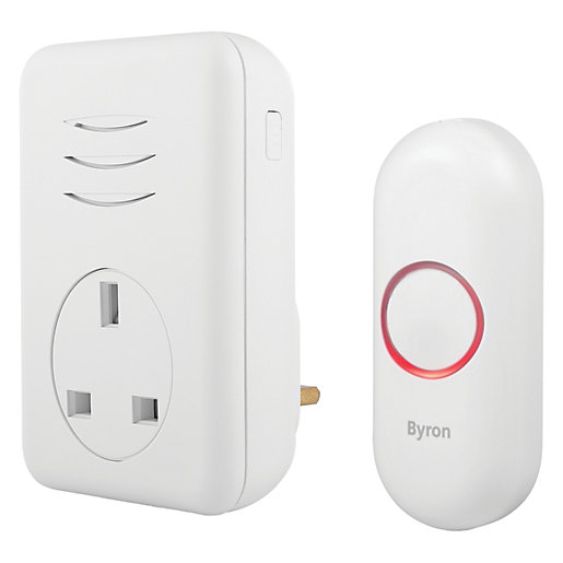 Byron 150m Plug-through Wireless Doorbell set