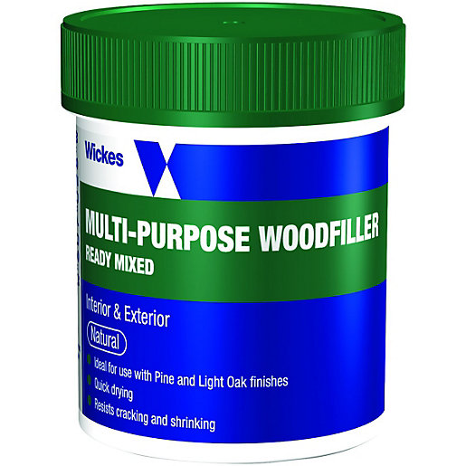Wickes Multi Purpose Wood Filler Tub Natural 250g Wickes Co Uk