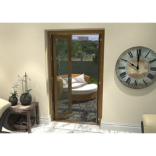Rohden Pattern 10 Fully Finished Oak French Doors