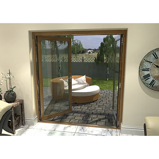 Rohden Pattern 10 Fully Finished Oak French Doors 6ft