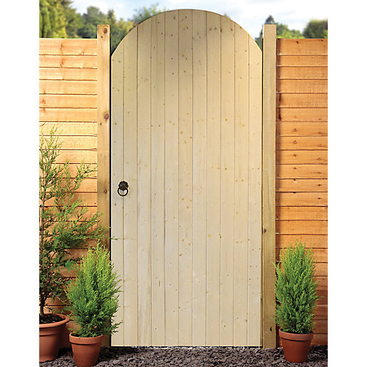 Wickes ledged braced arched top timber gate kit