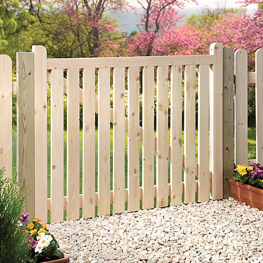 Wickes Timber Slatted Timber Gate Kit 1206 X 914 Mm