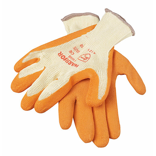 Wickes Builders Orange Grippa Gloves - Pack of