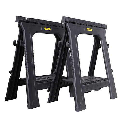 Stanley Stst1 70713 Folding Saw Horse Twin Pack Wickes Co Uk