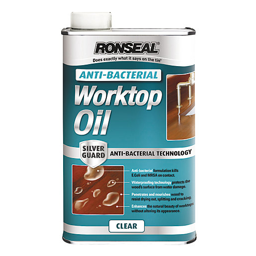 Ronseal Anti-Bacterial Work Top Oil - 500ml
