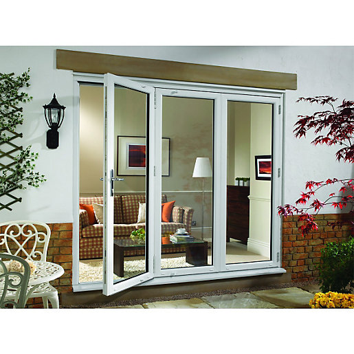 Upvc sliding patio doors wickes wickes millbrook upvc external bi fold door set white right opening planetlyrics Choice Image