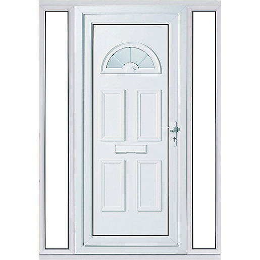 Wickes Carolina 2 Sidelight Upvc Door Set 2085 X 1520mm