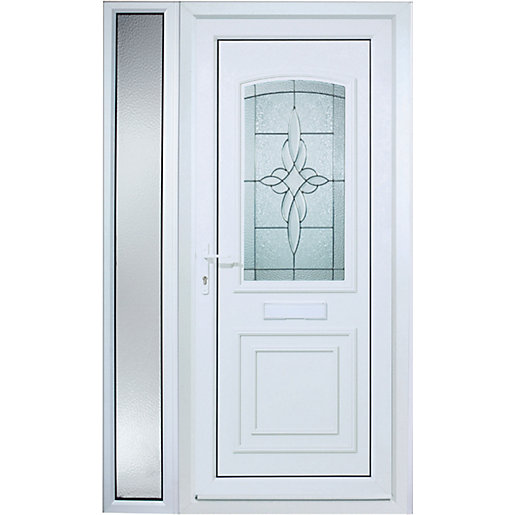 premium selection 0b955 3333d Wickes Medway 1 Sidelight Pre-hung Upvc Door 2085 x 1220mm Left Hand Hung