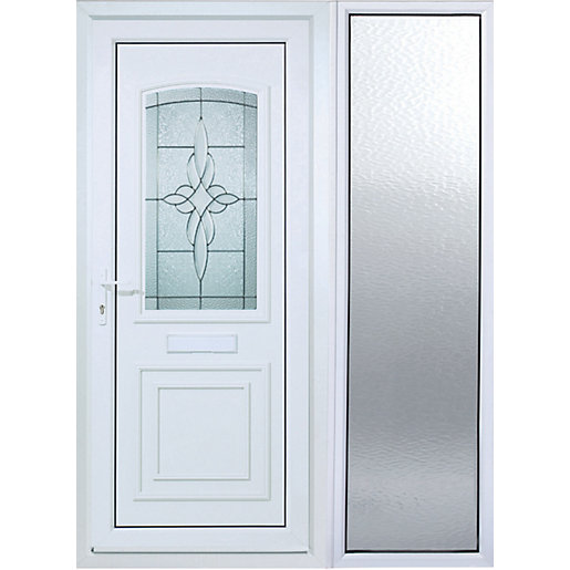Mouse over image for a closer look.  sc 1 st  Wickes & Wickes Medway 1 Sidelight Upvc Door 2085 x 1520mm Right Opening ...