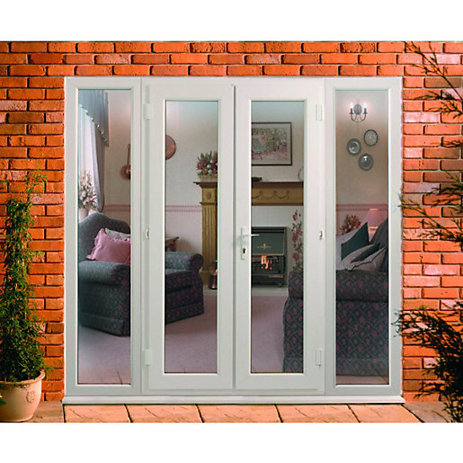 Wickes upvc french doors 8ft with 2 side panels 600mm for Patio doors with side panels