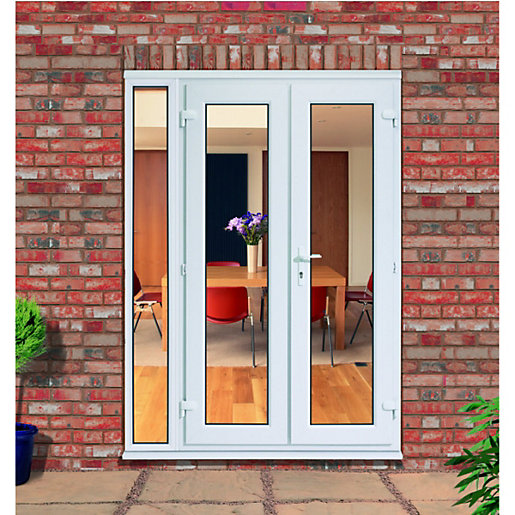 Upvc French Doors Outwards Opening With 300mm Side Panel