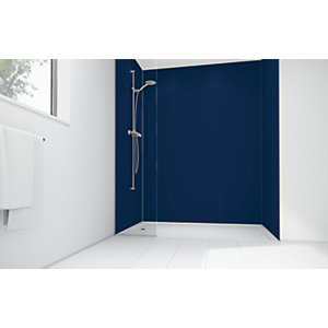 Wickes Atlantic Matte Acrylic 3 Sided Shower Panel Kit - 1200 x 900mm